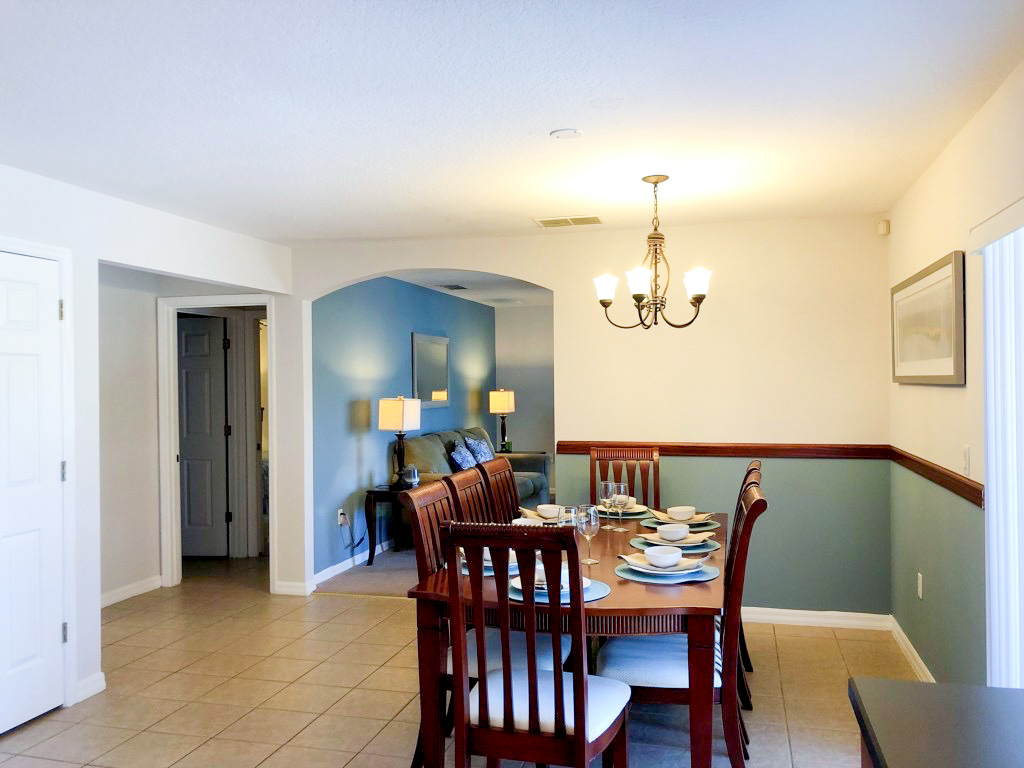 Kitchen Table and Formal Dining, seating for 8.