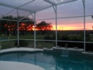 Sunset from the pool deck