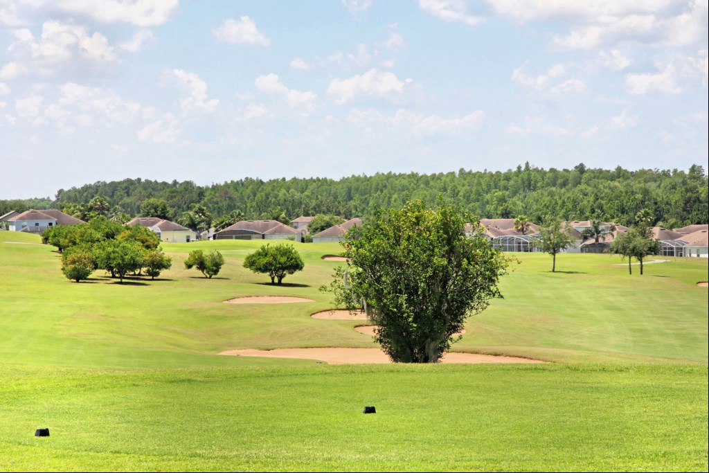 View of golf course from rear of villa