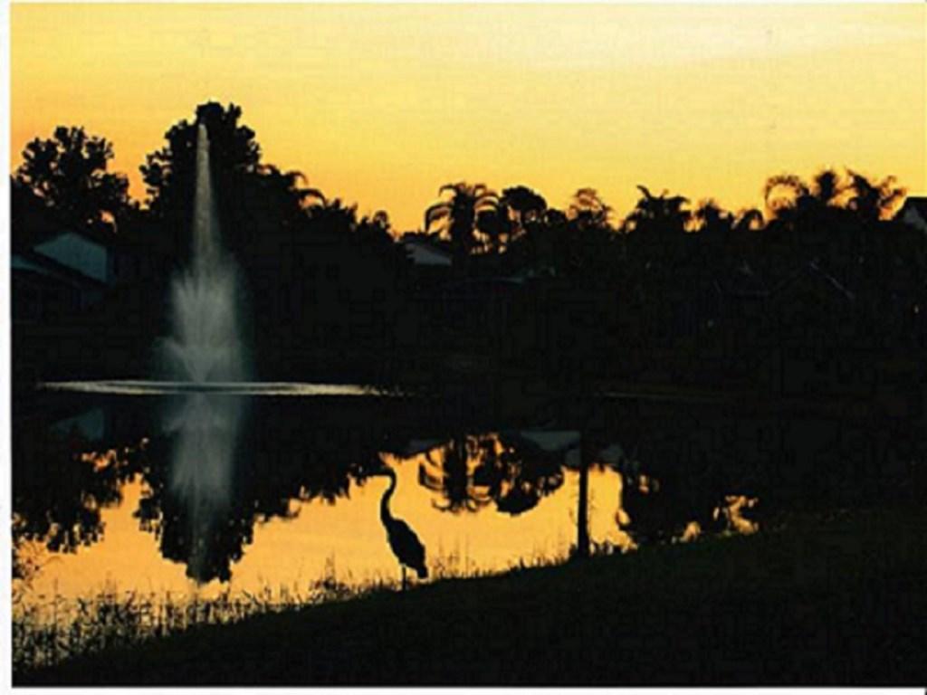 sun rise at Lake View House