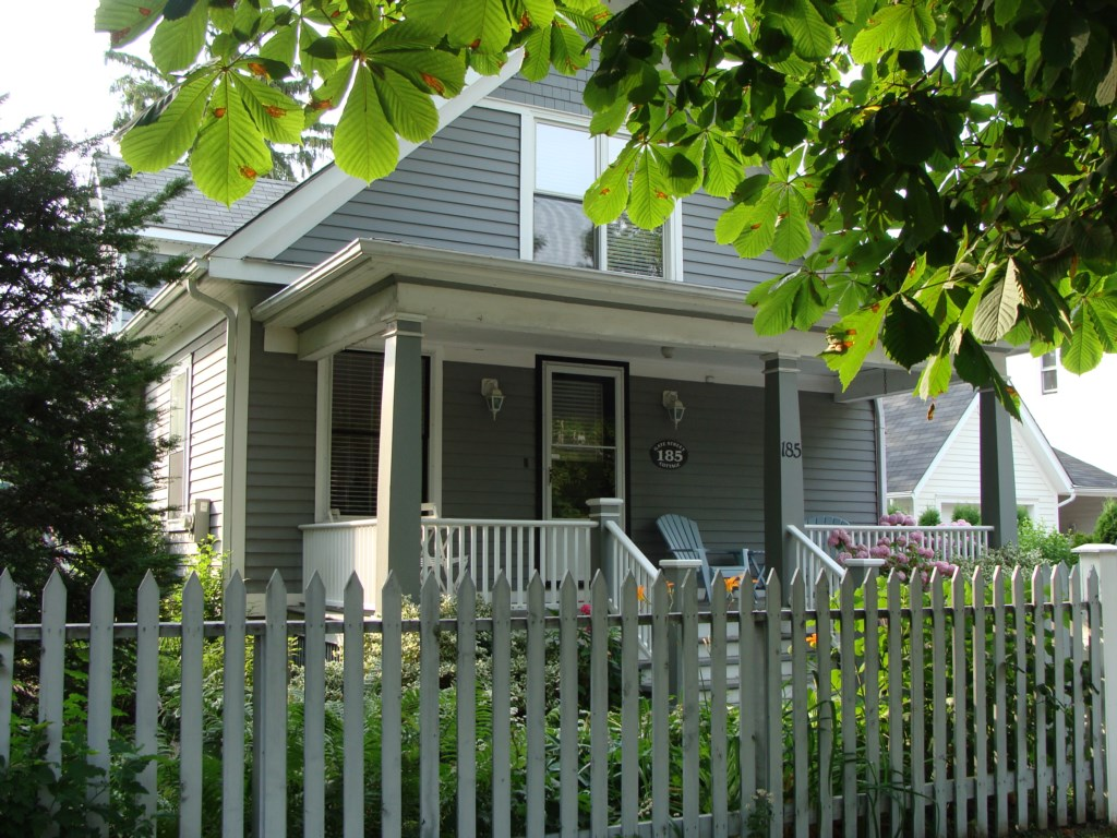 Welcome to Gate Street Cottage!  Come sit on our front porch and watch the world go by.