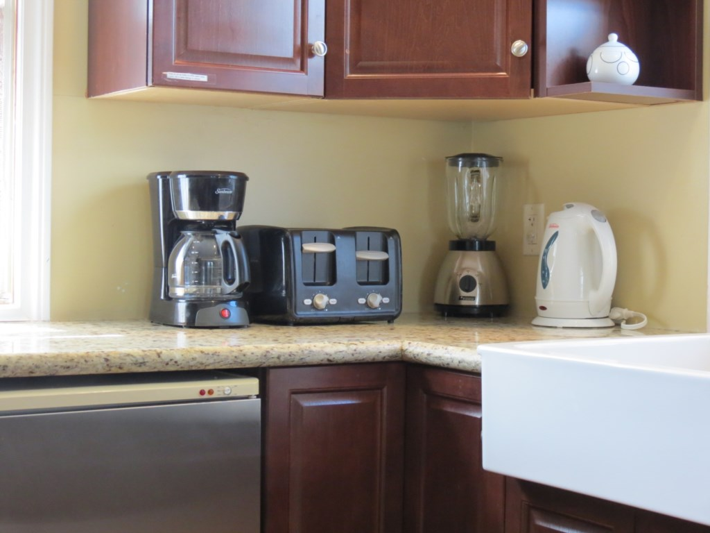 Drip Coffee Maker with Coffee, Tea and Sugar provided to get you started - Gate St Cottage - NOTL