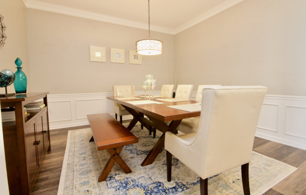 Large dining table for comfortable seating