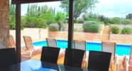 Villa Agapi - Dining outside is a pleasure. Aphrodite Hills Resort, Cyprus.