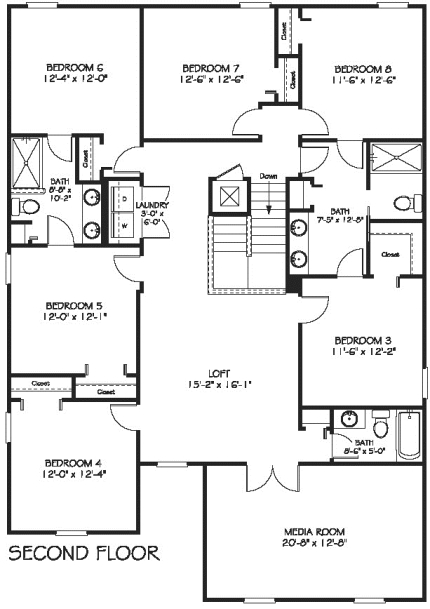 Maui Second Floor Plan