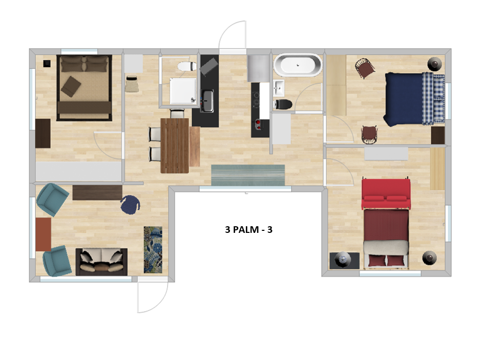 Beachfront Cottages Floor Plan
