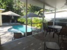 Screened in Porch with Pool View