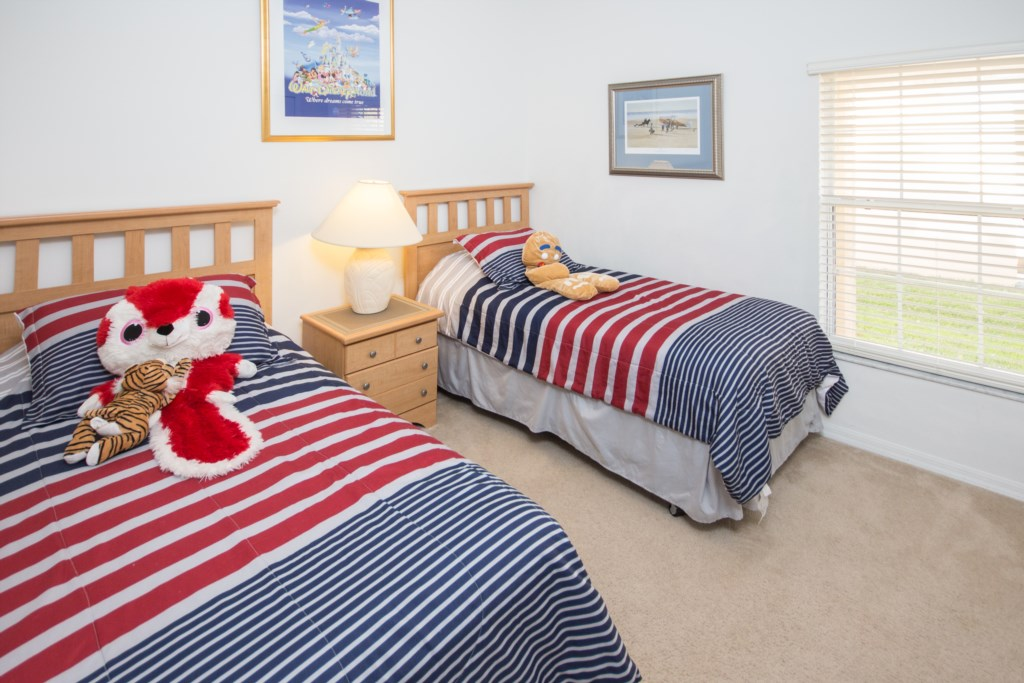 3rd Bedroom - Two Twin Beds