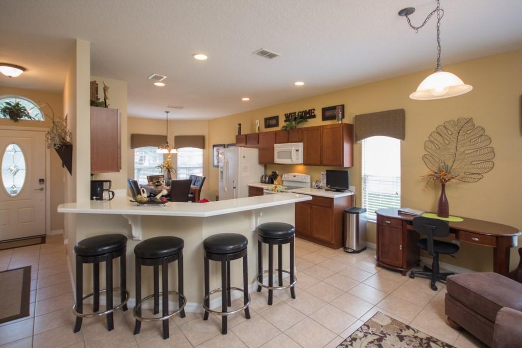 Kitchen Area W/ Bar Stools