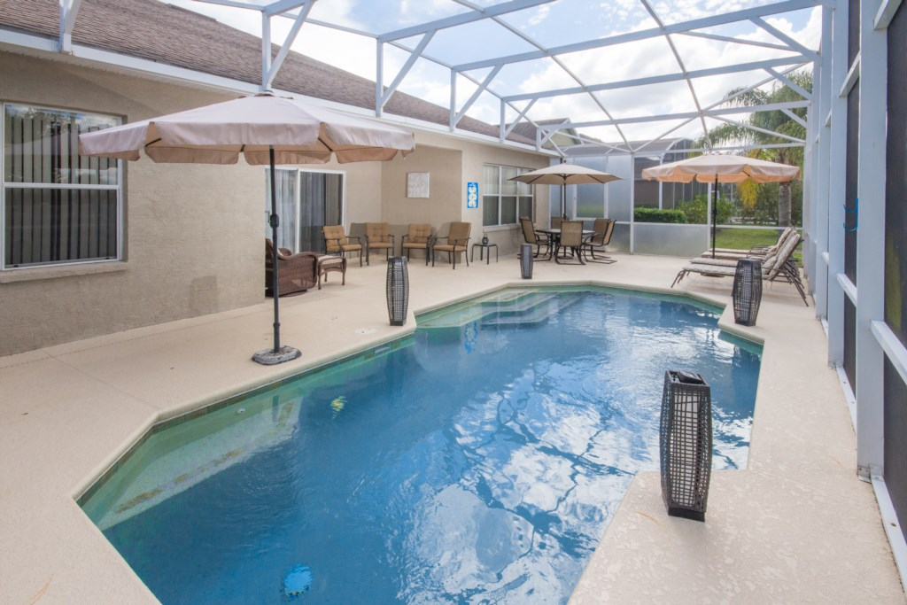 Pool View & Patio Seating