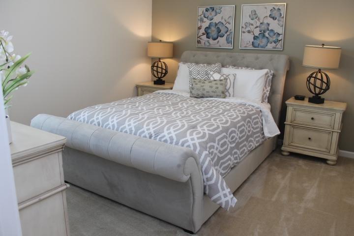 Gorgeous Sleigh Bed on Main Floor, 1st Bedroom