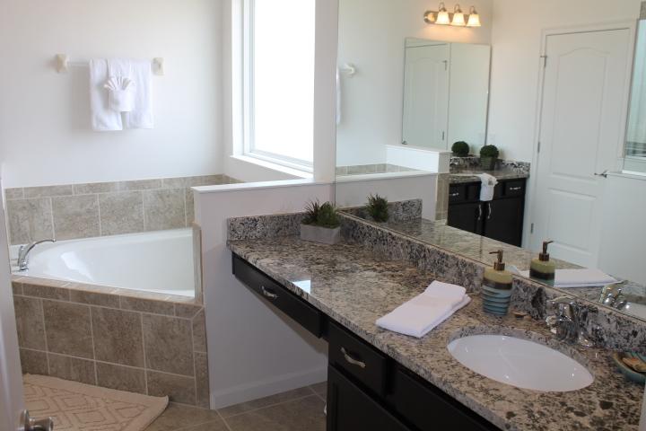 Huge Master En-Suite Bathroom, Double Sinks, Large Walk In Shower!