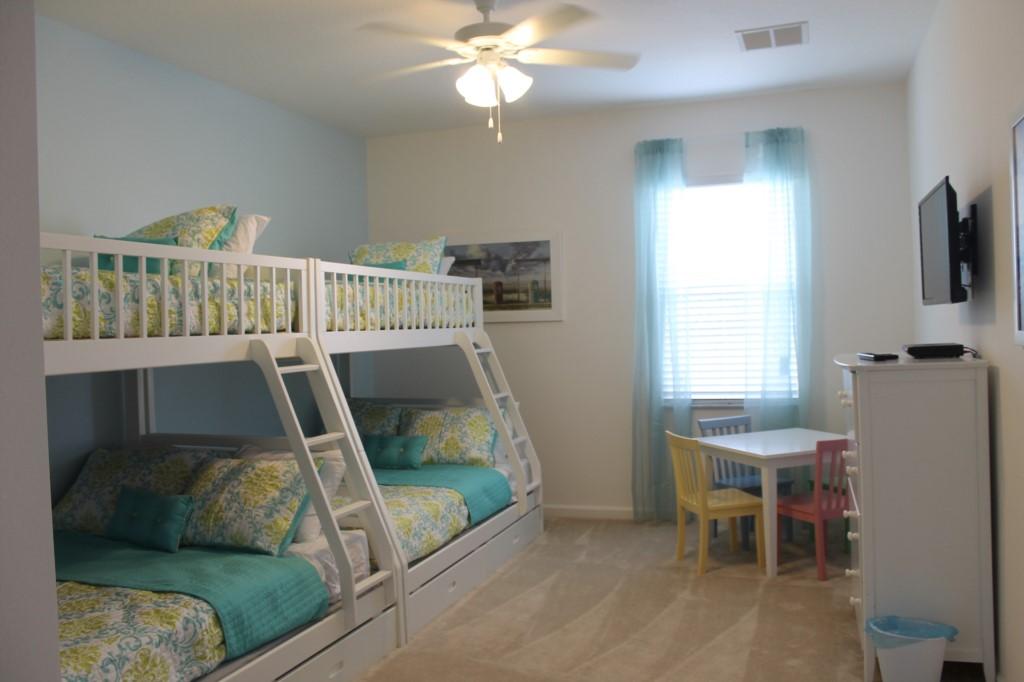 5th Bedroom, Second Floor - Beautiful New Bunk Bed Sets!