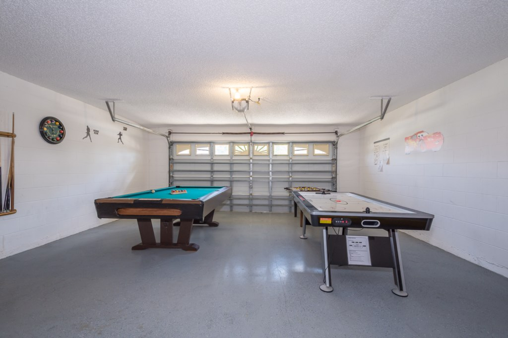 Games Room - Air Hockey and Pool Table