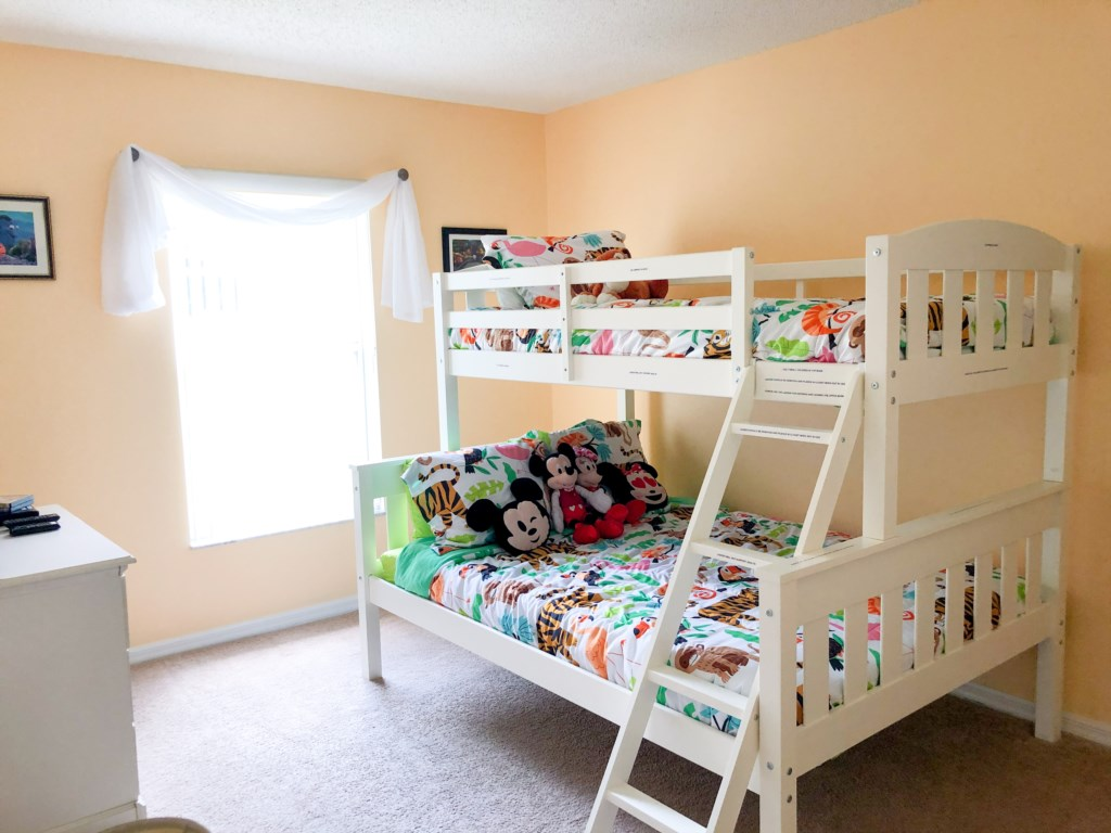 Mickey themed bunk bed! Great for the kids!