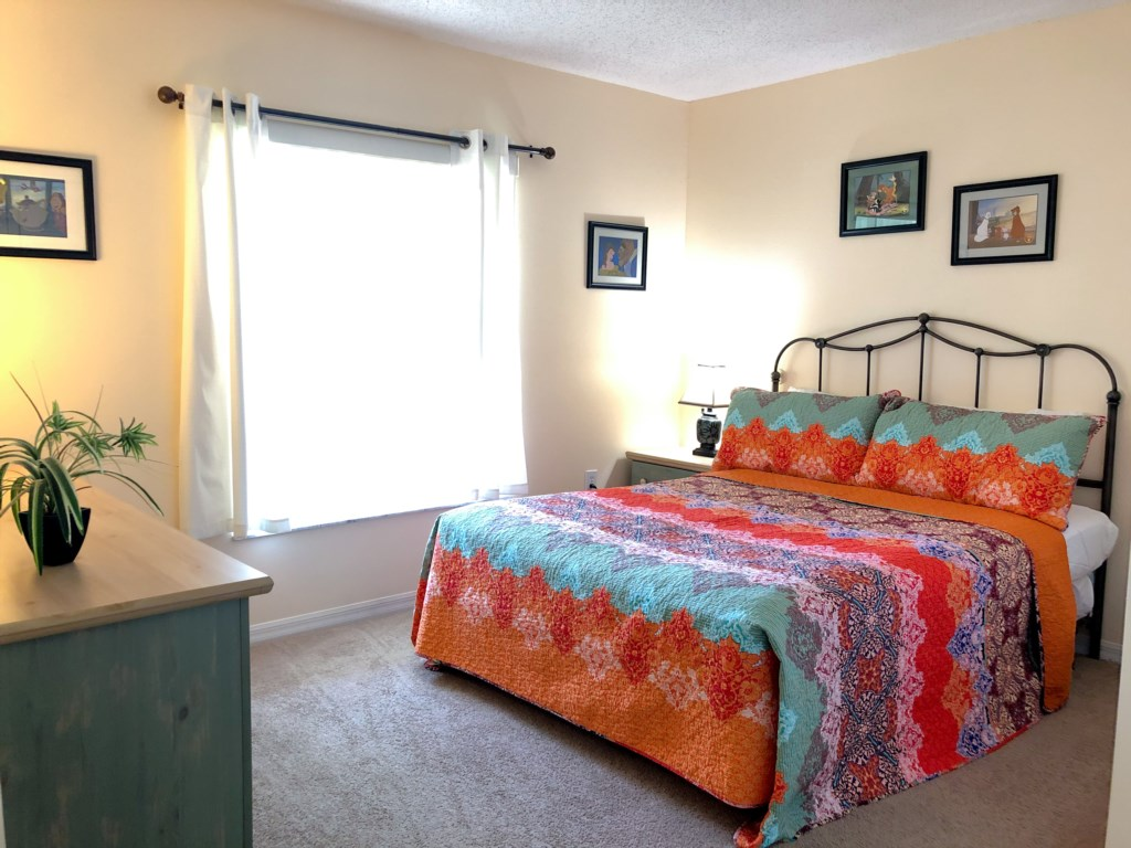 Fourth Bedroom Features a Cozy Queen Bed and TV!