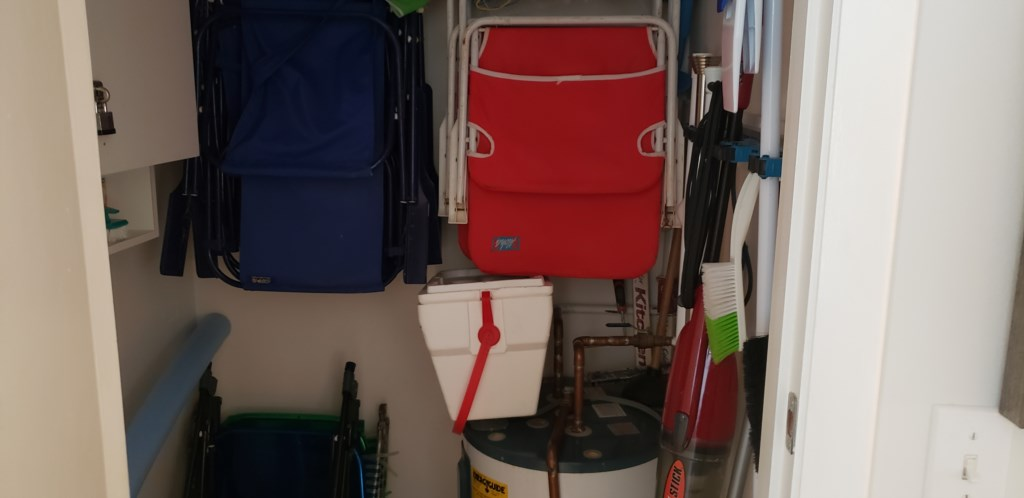 Closet with  beach Supplies