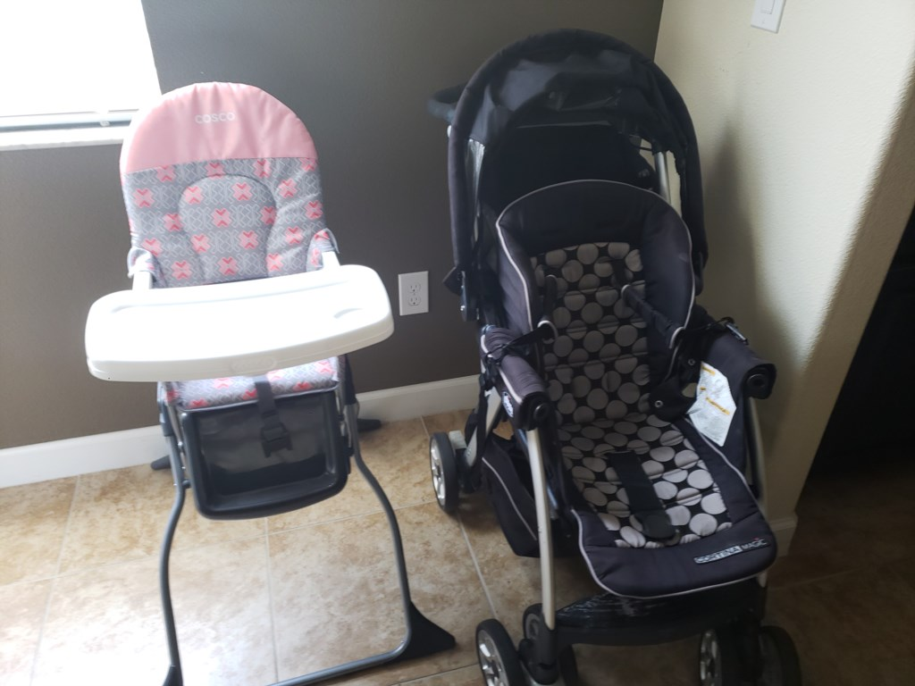 FREE High chair and stroller
