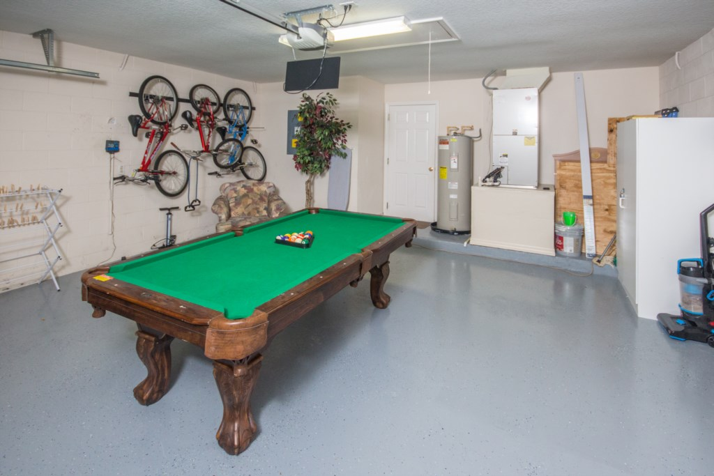 Games Room in Garage