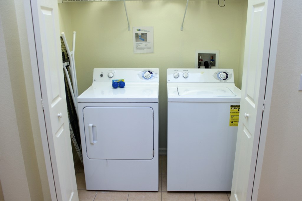 Full Size Washer and Dryer - Iron and Ironing Board!