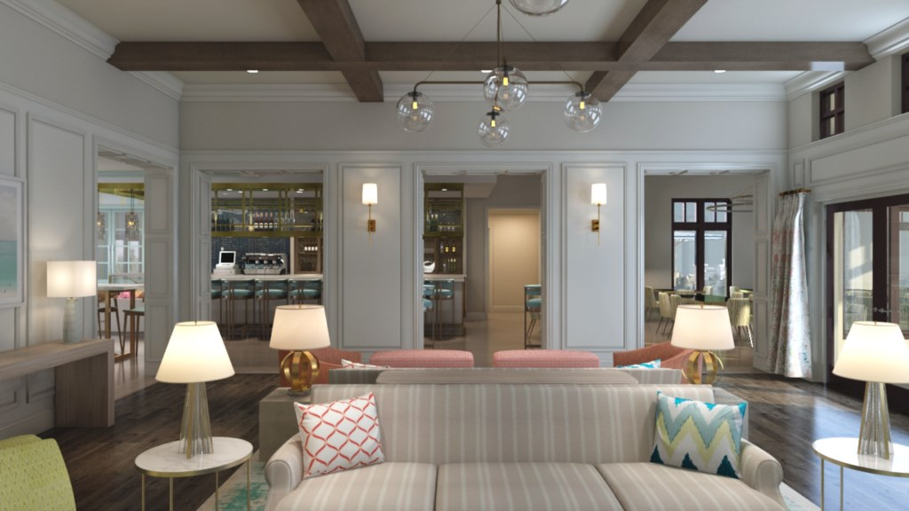 Resort clubhouse living area