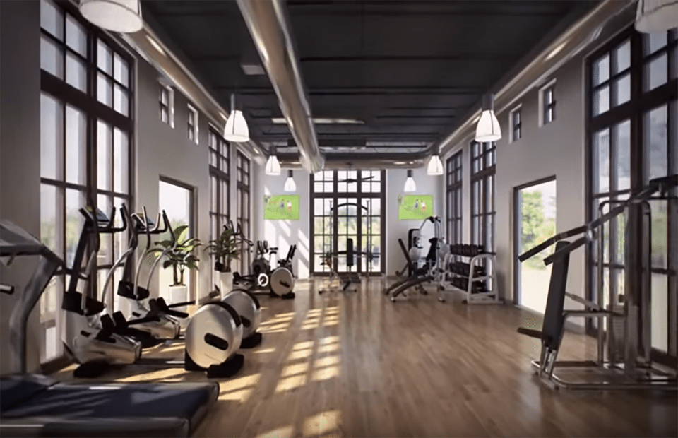 Resort clubhouse fitness area