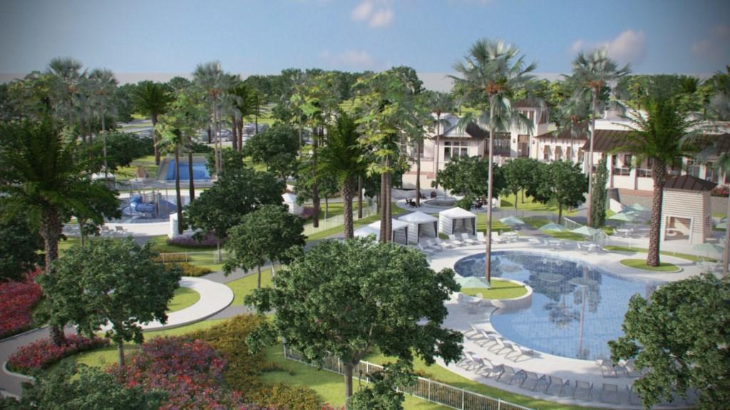 Solara Resort clubhouse pool view