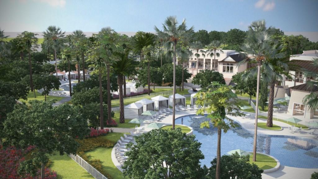 Solara Resort clubhouse zero entry pool