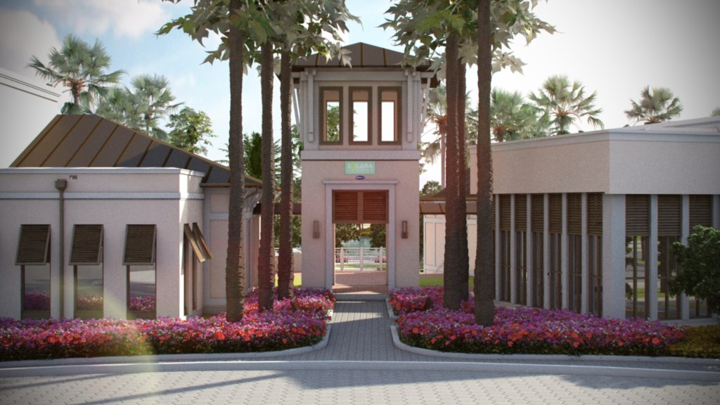 Resort clubhouse entrance