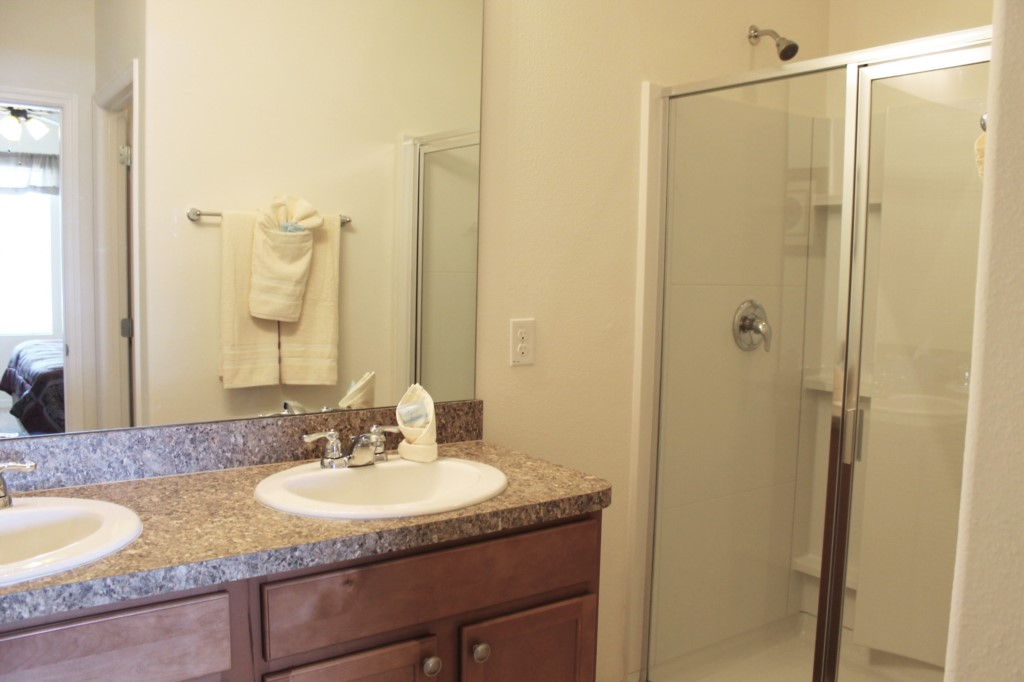 Main Floor Bath with Walk in Shower!