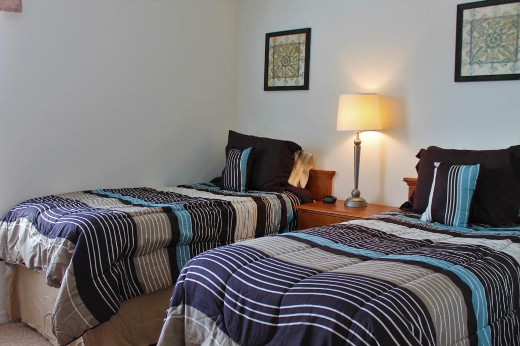 Bedroom 3 (Second Floor): Twin Bedroom with Private TV!