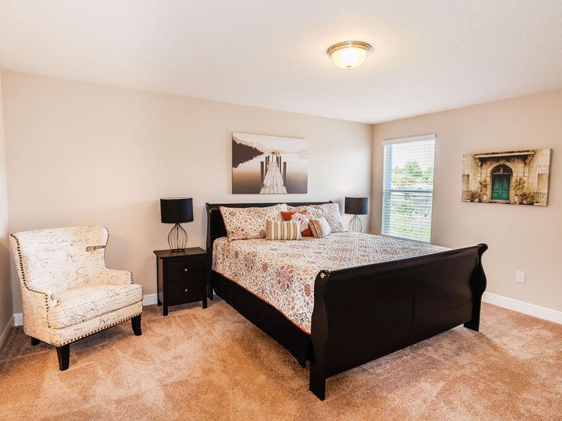Upstairs Master King Bedroom with Ensuite Bathroom and Private TV!