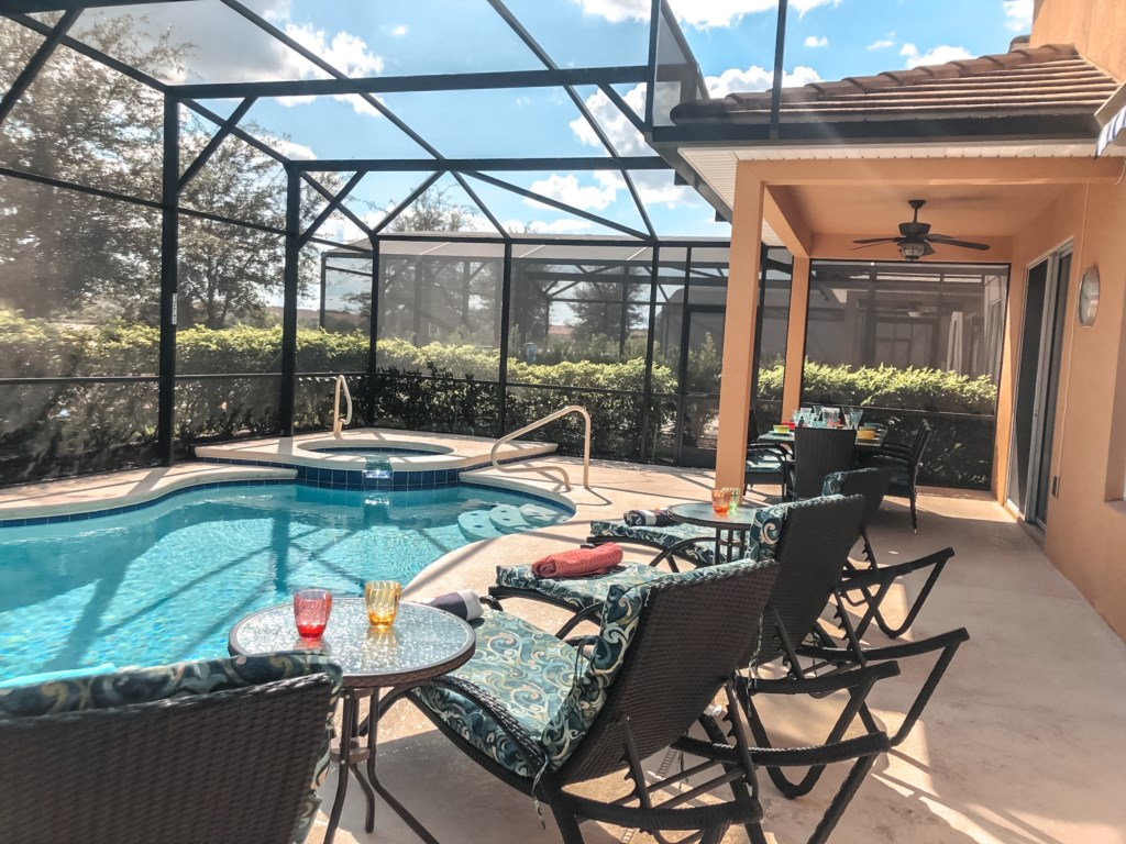 Premier loungers and relaxing pool views!