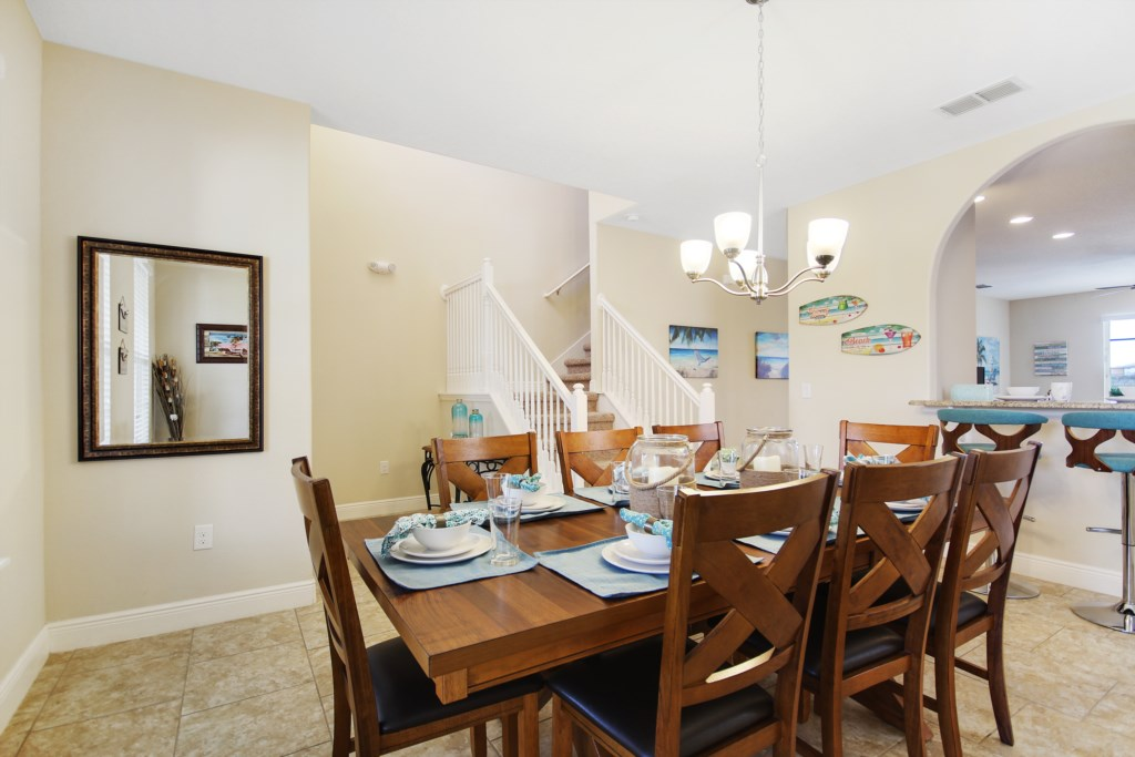 Beautiful Beach Themed Dining Area! Seating for 8!