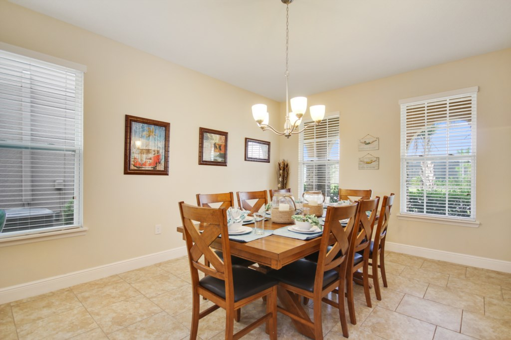 Another View of the Gorgeous, Beach Themed Dining Area!