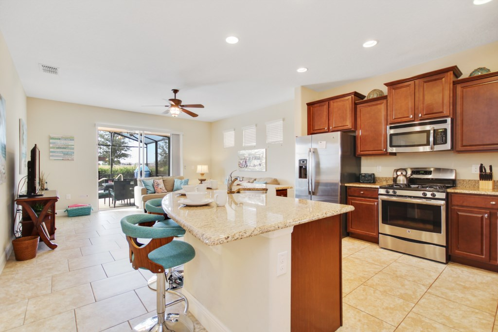 Kitchen Island! Great for entertaining!