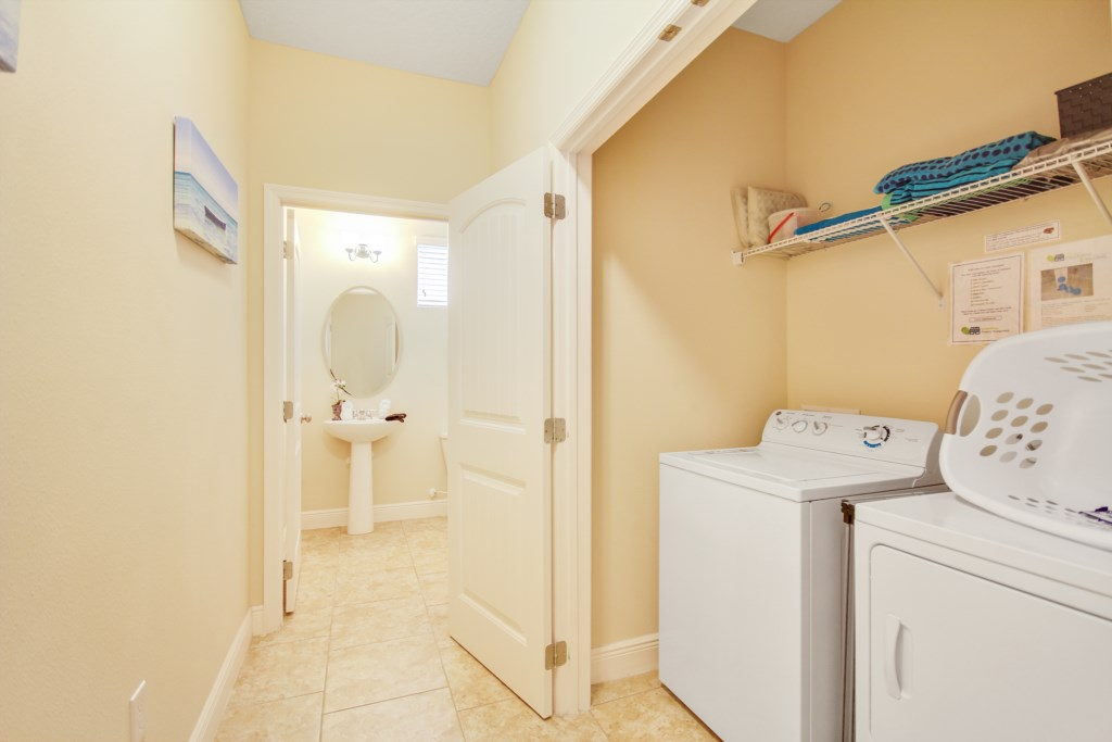 Full Size Washer and Dryer for your use!