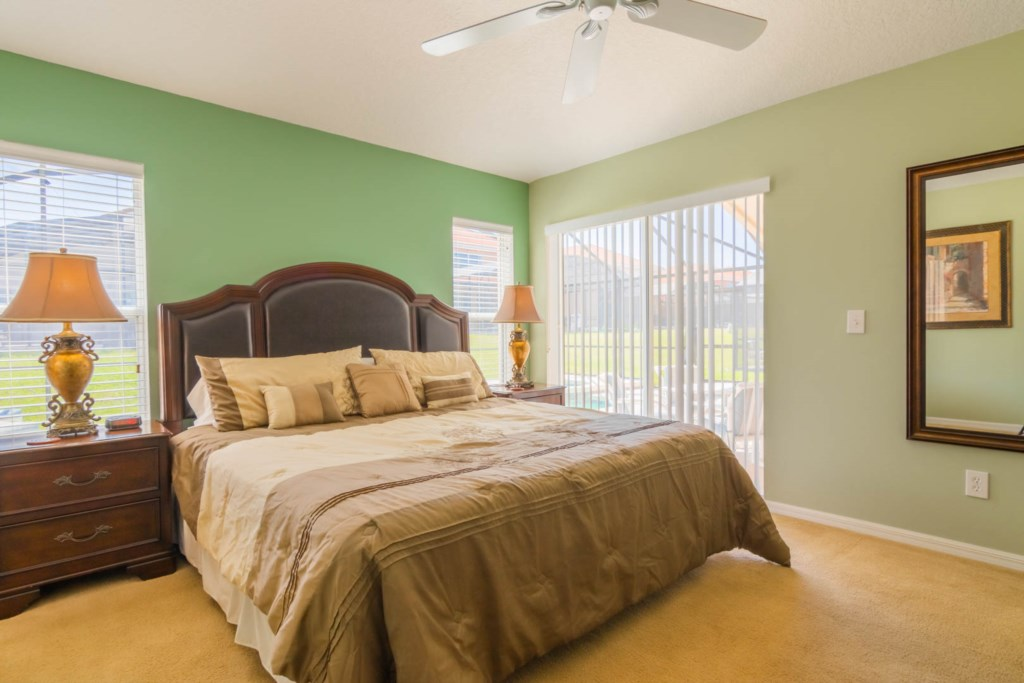 Charming Solana Resort Villa - Master Bedroom 1 w/ King Size Bed