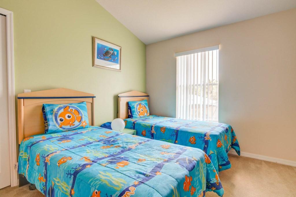 Karis' Sandy Ridge Villa - Bedroom 5 w/ Two Twin Beds