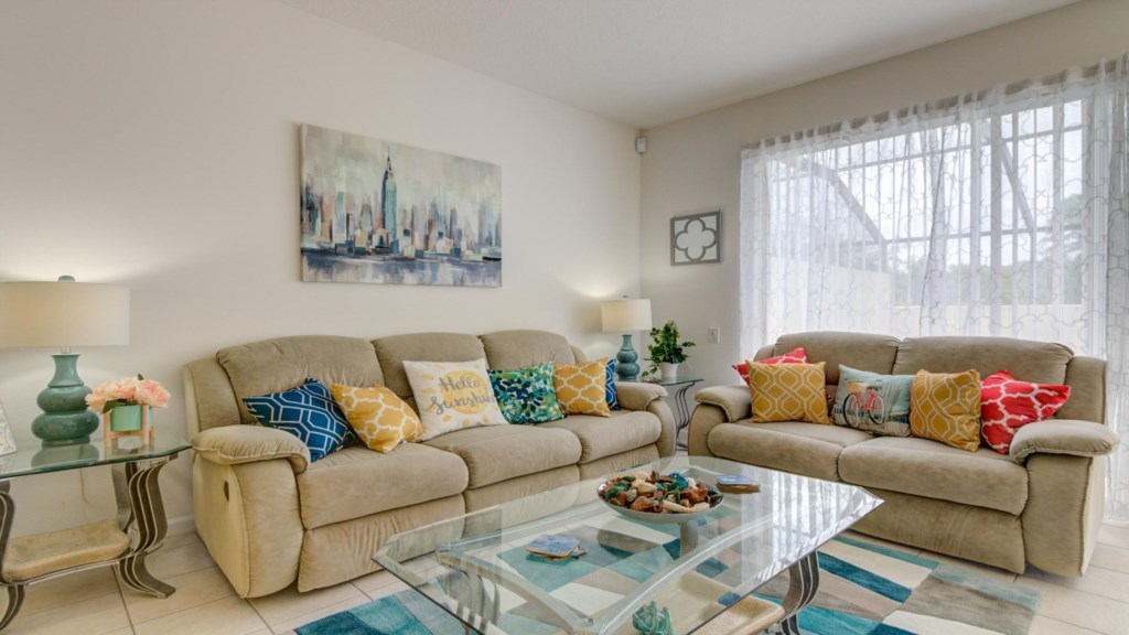 Marlene's Windsor Palms Resort Townhouse - Living Room (1)