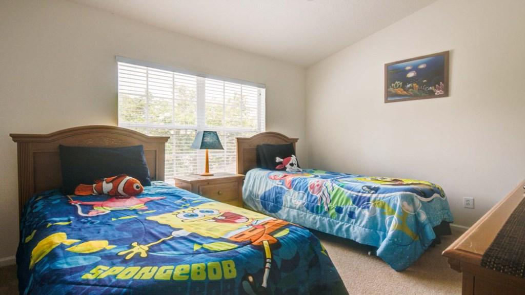 Marlene's Windsor Palms Resort Townhouse - Bedroom 3 w/ Two Twin Beds
