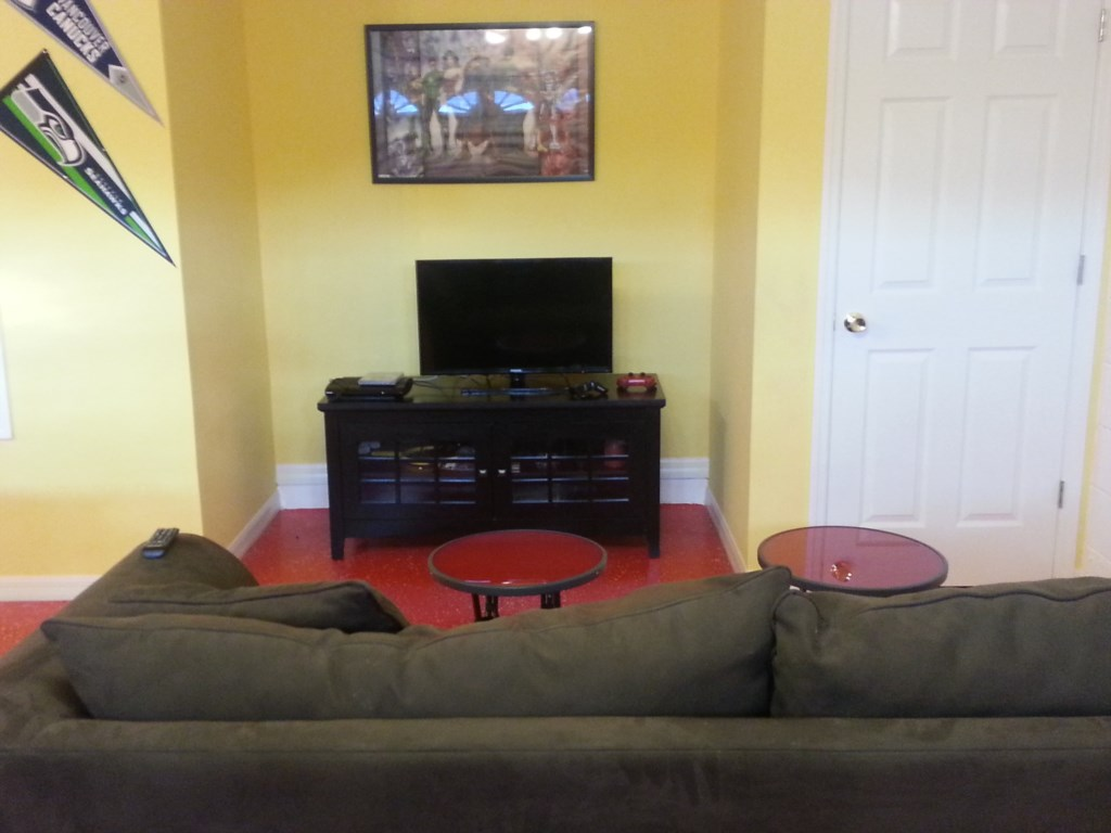 TV in games room