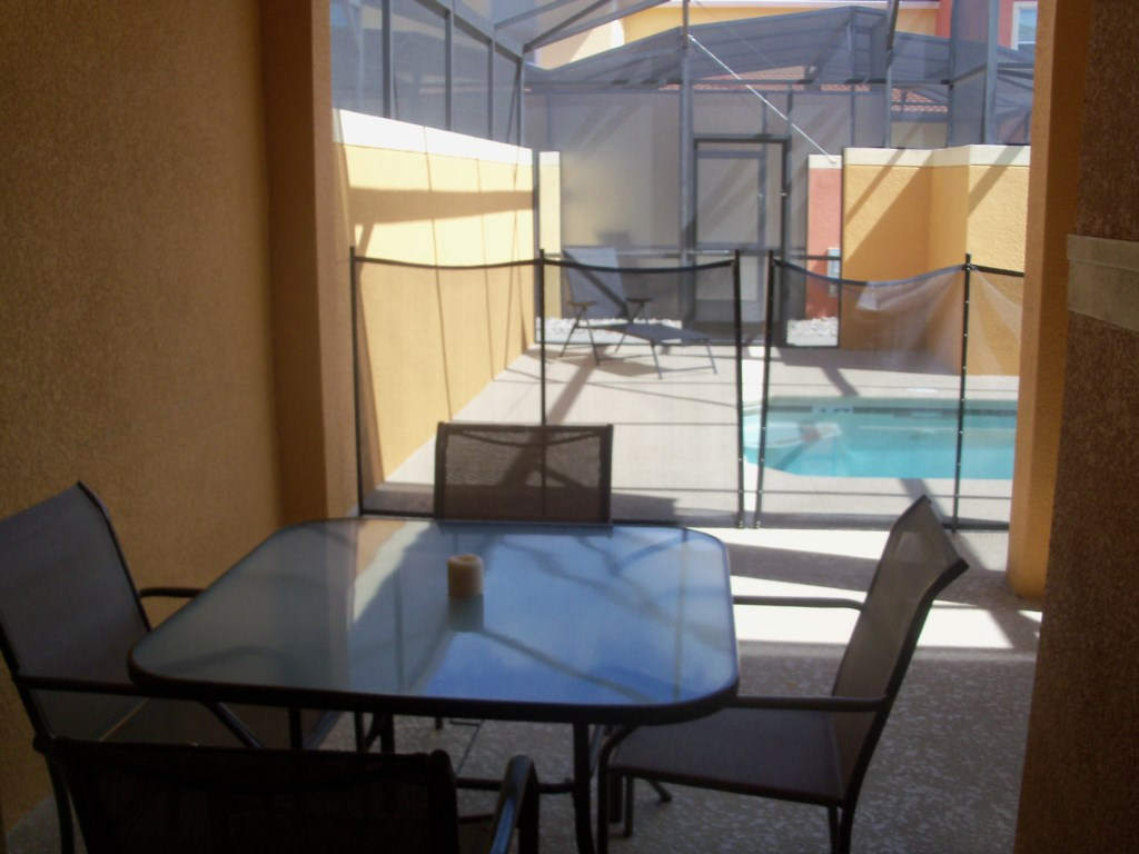 private pool area seating