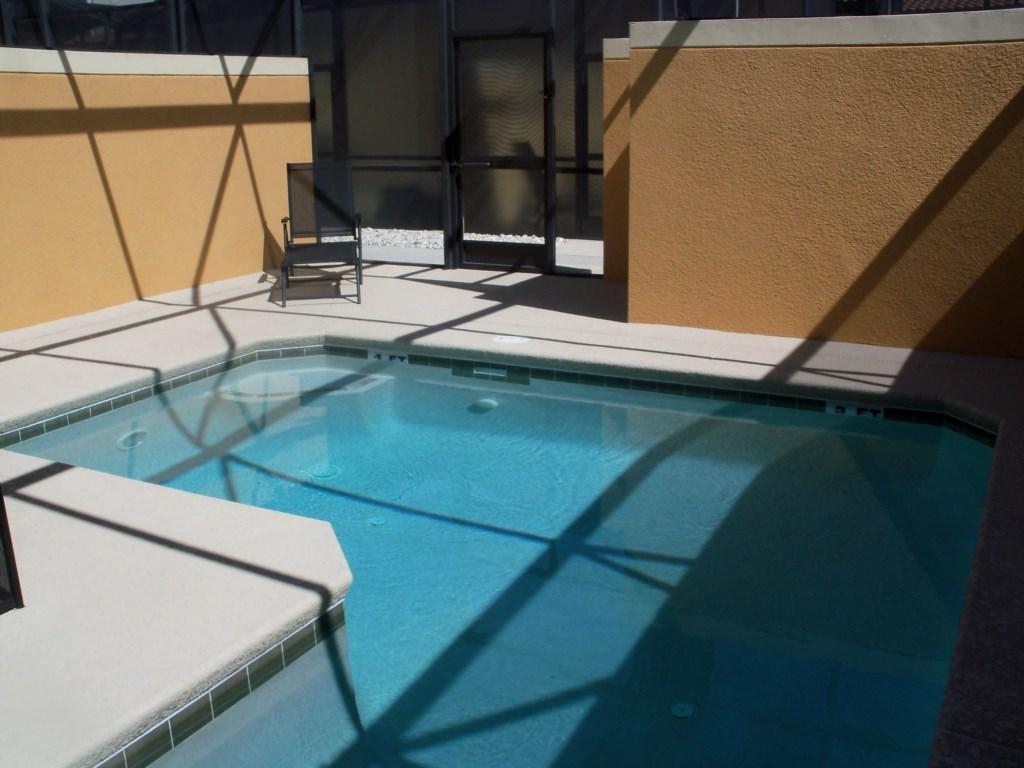 private screened in splash pool