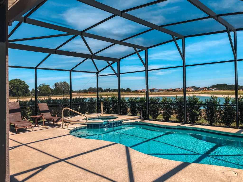 Stunning View of the South Facing Pool and Spa!
