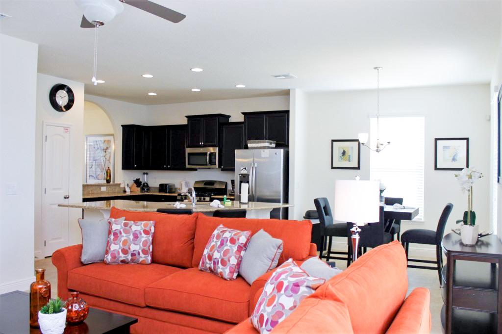 Modern Living Room Furnishings and Flat Screen TV!