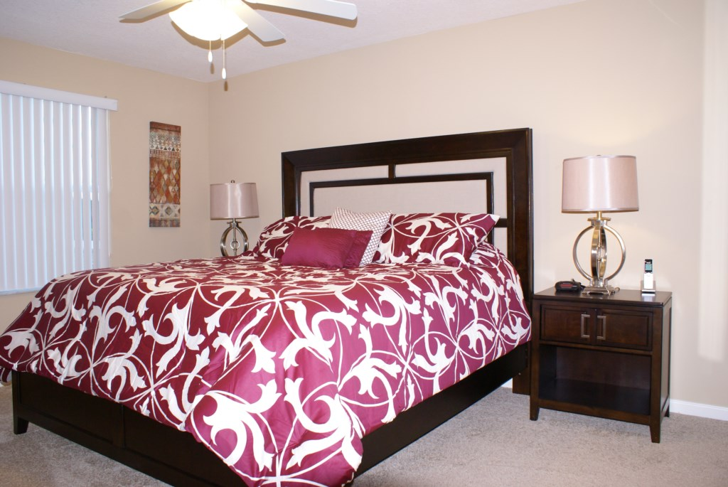 Luxury Master Bedroom Orlando Rental