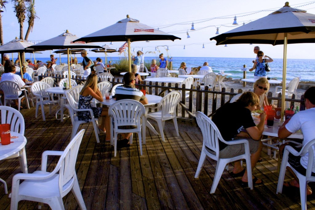 Eat right on the beach at the Beach House Restaurant