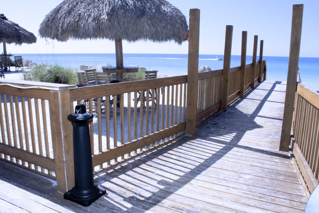 Walk directly up from the beach do dine on Anna Maria Island