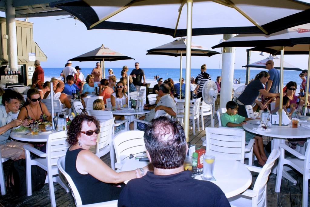 The world famous Sandbar Restaurant on Anna Maria Island